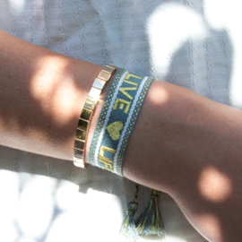 Bracelet - Metal beads - gold