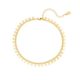 Anklet - coins - RVS gold