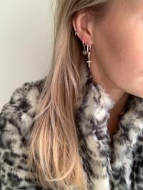 Earrings medium - set Cross - silver/gold plated