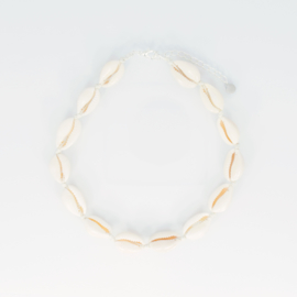 Shell Necklace + Anklet + Bracelet - beige