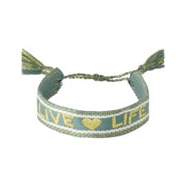 Bracelet - LIVE ♡ LIFE - green