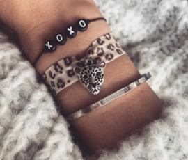Leopard Bracelet - silver plated