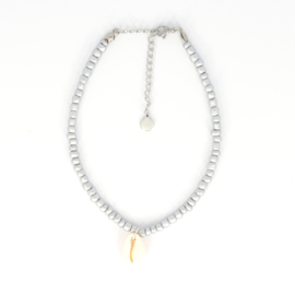 Beads Anklet - Shell - silver