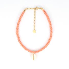 Beads Anklet - Shell - orange