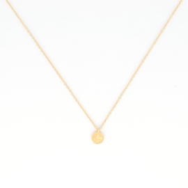 Korte ketting - Coin - gold plated