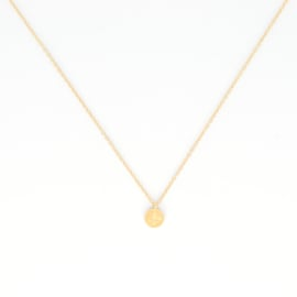 Short Necklace - Coin - gold plated