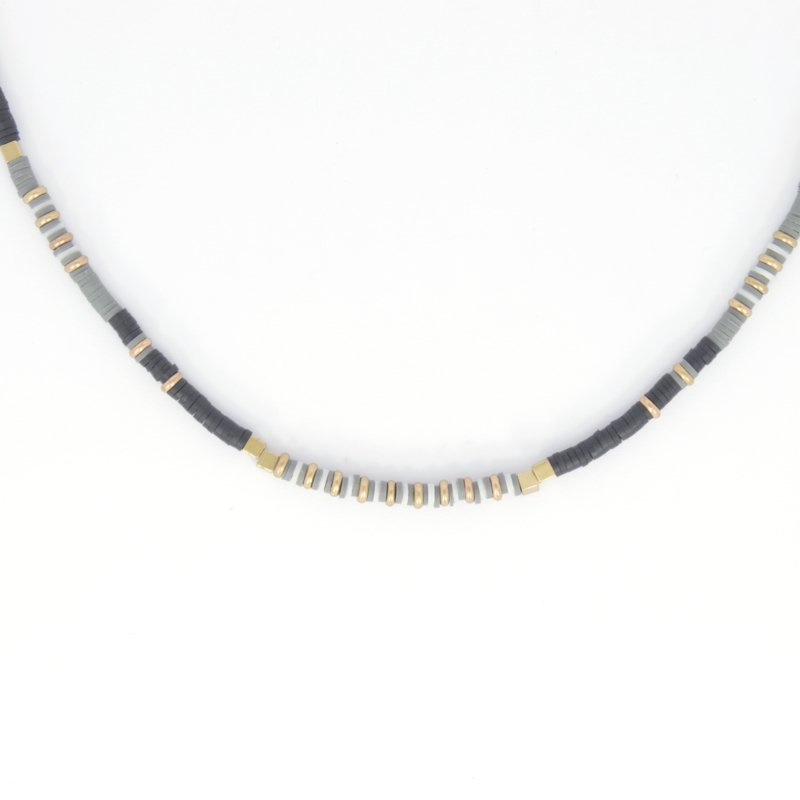 Necklace - Rubber Beads - Black
