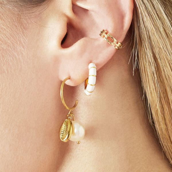 Ear Cuff - linked - gold plated