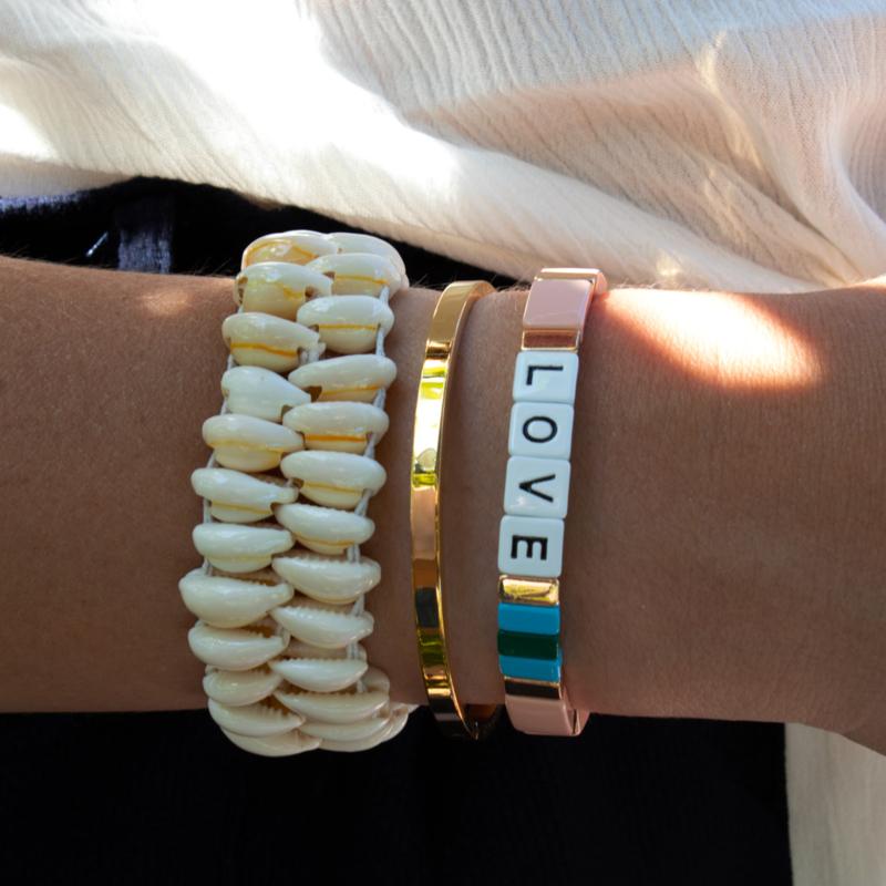 Colourful LOVE Bracelet - peach
