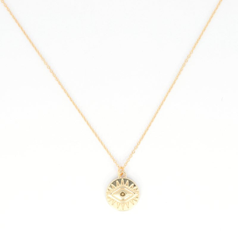 Long Necklace - Eye - silver/gold plated