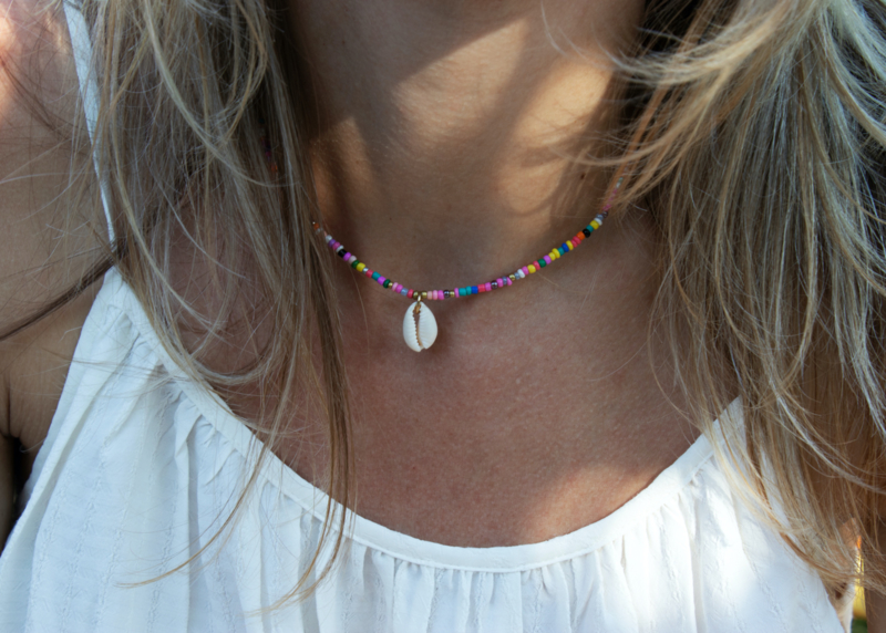 Summer Necklace - Mini Beads - Shell