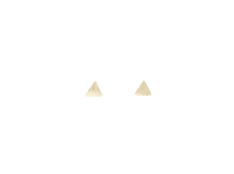 Ear studs - Triangle - gold