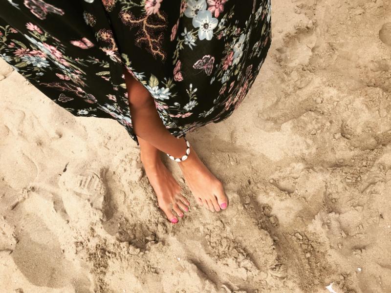 Shell Anklet - Black