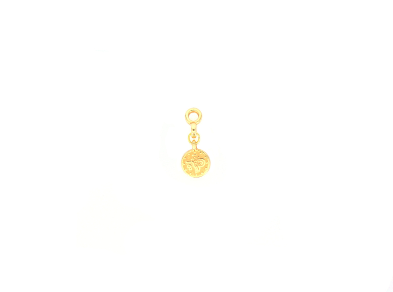 Earring Charm - Coin - silver/gold plated