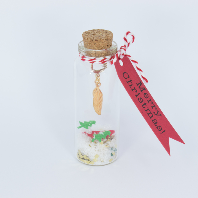 Christmas Bottle - Earrings small - silver/gold plated