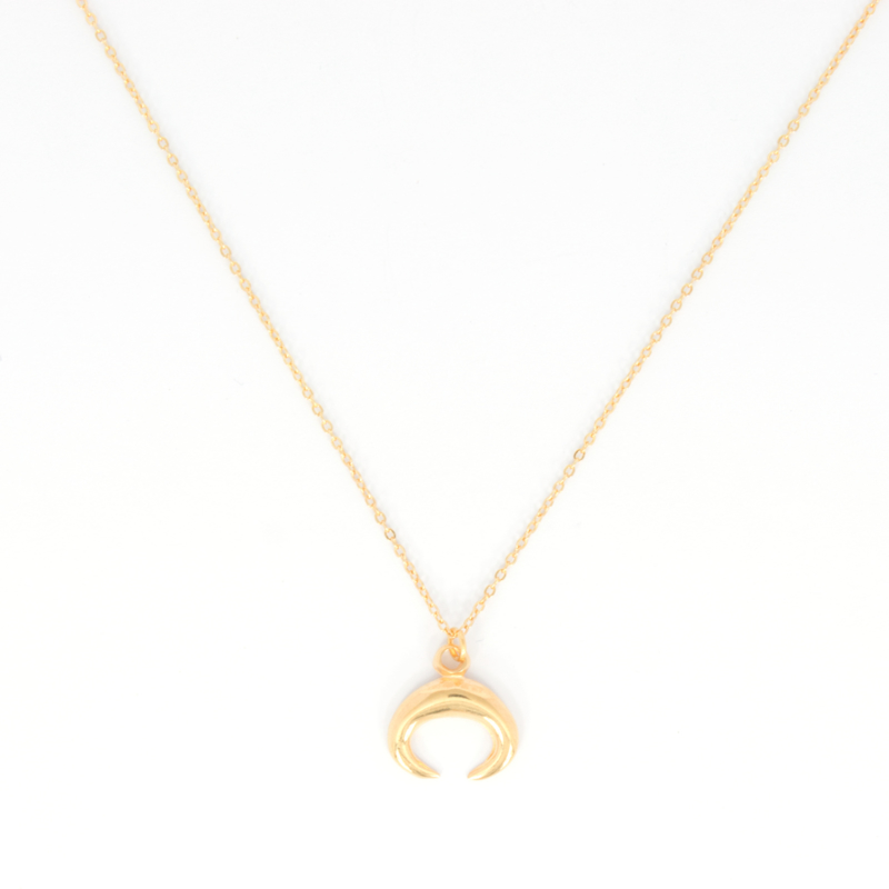 Long Necklace - Horn - silver/gold plated