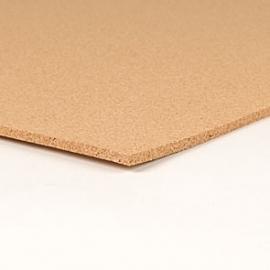 Zelfklevend prikbord naturel 6 mm. dik