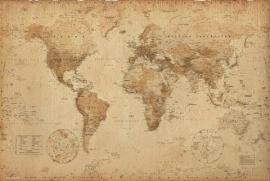 Kurk prikbord Antieke kaart 60 x 90 cm.