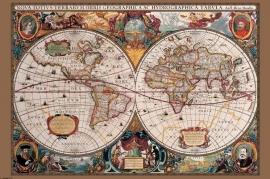 Kurk prikbord Historische  kaart 60 x 90 cm.