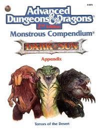 Dark Sun Monsterous Compendium appendix