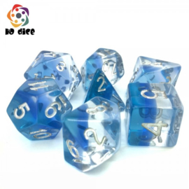 Transparent Blue Gradients dice