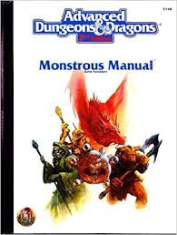 advanced dungeons and dragons monstrous manual white cover