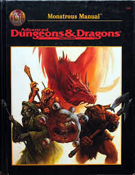 advanced dungeons and dragons monstrous manual black cover