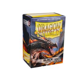 Dragon Shield Matte - Non-glare - Black Amina 100 sleeves