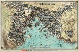 Descent into Avernus Baldurs gate vinyl map (58 bij 43 cm)