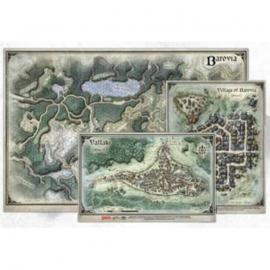 "D&D Curse of Strahd: Map Set (24""x16"", 9""x12"", 8""x13"")"