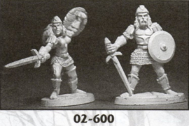 Ral Partha 2 fighters metaal (blister)