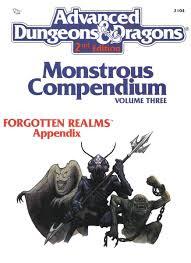 Monster Compendium: Forgotten realms appendix 3