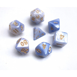 (Light blue+white) Blend color dice set