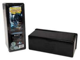 4 compartment storage box - black