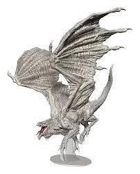 D&D Icons of the Realms Miniatures: Adult white Dragon Premium Figure