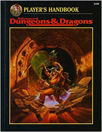 advanced dnd black cover players handbook