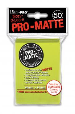 matte card sleeves ultra pro 50ct bright yellow