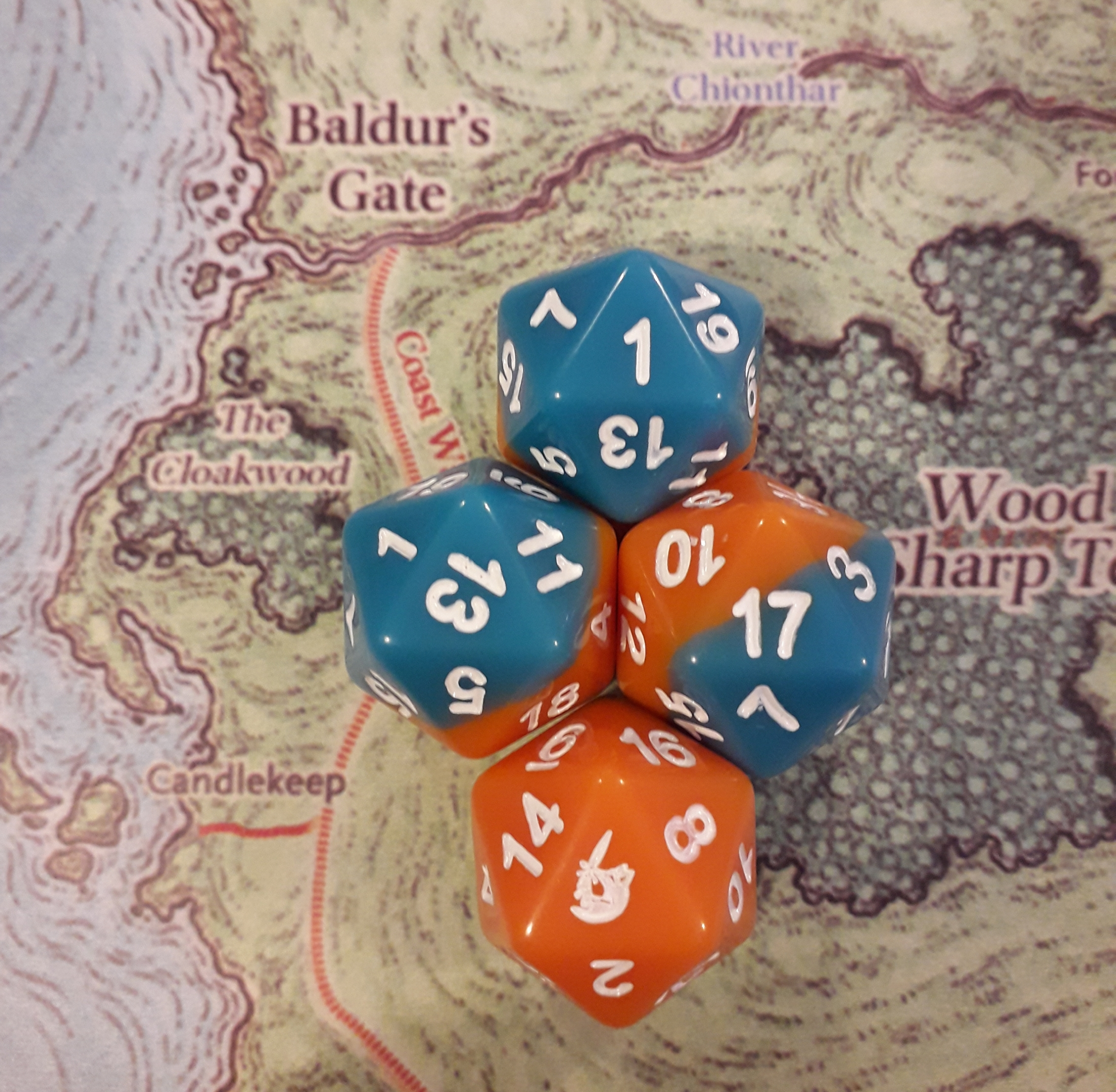 The Fantasy Realm 20 sided dice