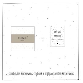 Combinatie kinderwens-dagboek en  mijlpaalkaarten kinderwens