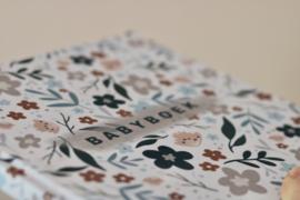 Babyboek linnen cover - bloemenprint