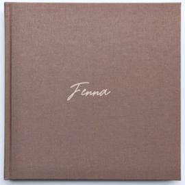 Babyboek linnen cover - FENNA