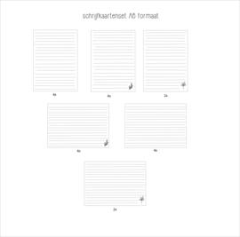 Schrijfkaarten voor foto/plakboeken A6 formaat