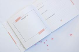 Babyboek - roze