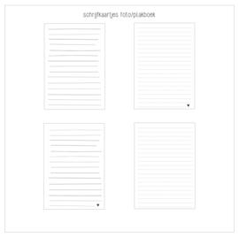 Schrijfkaartjes voor foto/plakboeken