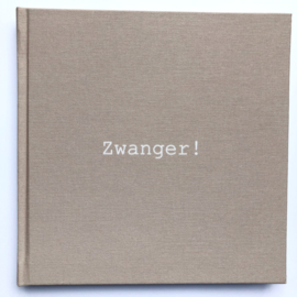 Zwangerschapsdagboek linnen cover - Sale