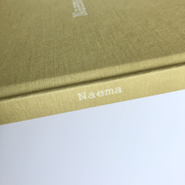 Babyboek linnen cover - NAEMA