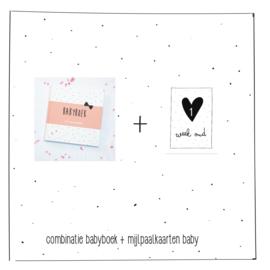 Combinatie babyboek + mijlpaalkaarten baby