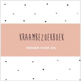 Kraambezoekboek - roze cover