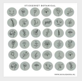Stickers - botanical green