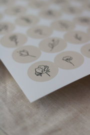 Stickers - botanical soft pink